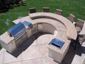 outdoor kitchen bbq designs the green scene s award winning cast concrete counters and
