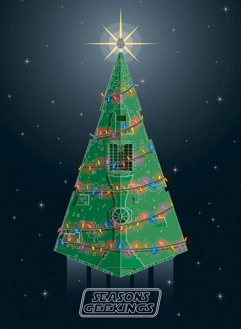 star wars christmas card star destroyer christmas tree