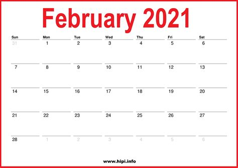 monthly  calendars red white hipiinfo