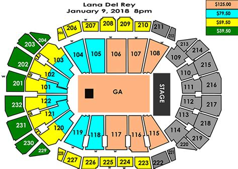 sprint center seating chart seating charts sprint center