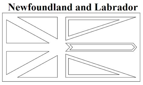 newfoundland map coloring page geography blog newfoundland and labrador flag coloring page