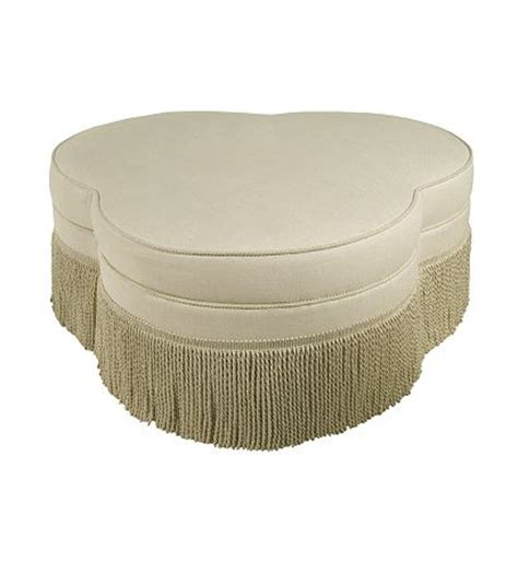 clover ottoman cloverleaf ottoman from the upholstery collection by
