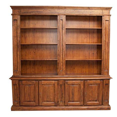 libreria in legno biscottini libreria in legno massello di tiglio 4 ante cod