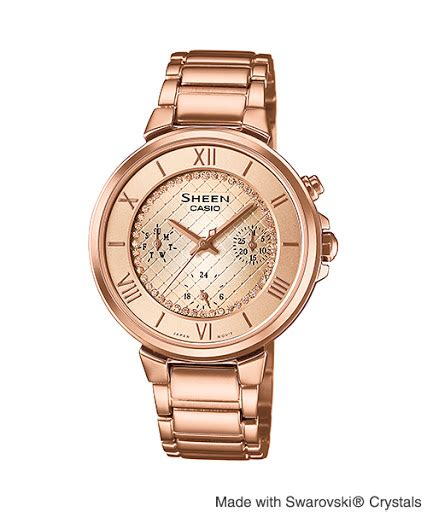 Casio Rantai Gold jual jam tangan casio sheen she 3040pg jam casio jam