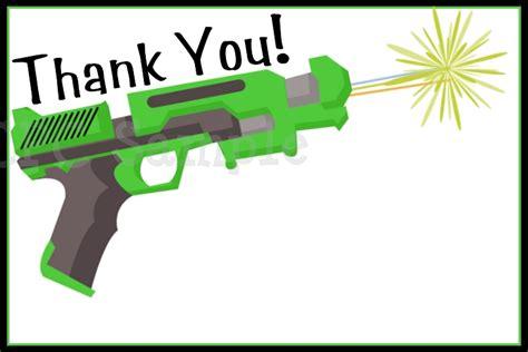 airsoft nerf gun laser tag invitations printable or