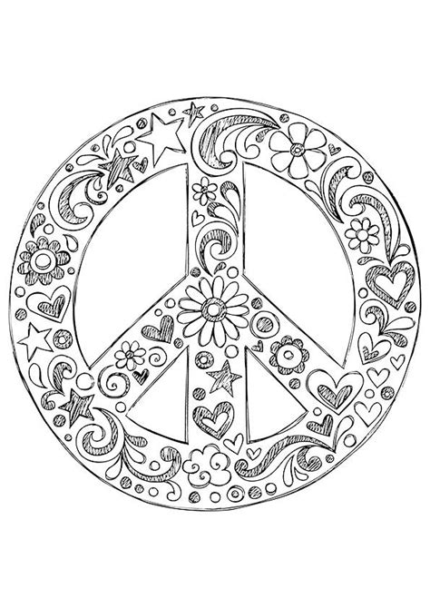 peace mandalas coloring page simple and attractive free printable peace sign coloring