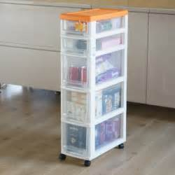 narrow kitchen cabinet organizers 22cm ultra narrow gap narrow belt pulley plastic five drawer storage cabinet slot cabinet