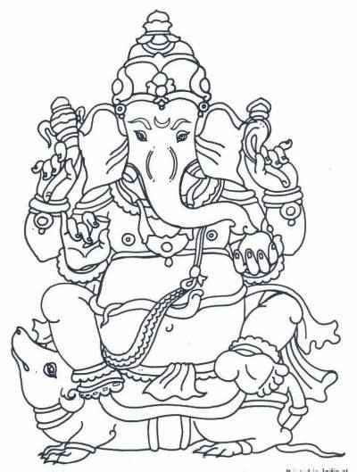 printable ganesh images ganesha coloring pages hindu mommy