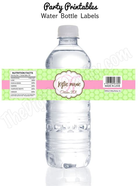 baby shower water bottle labels template baby shower personalized baby by