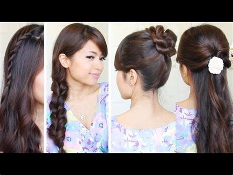 hairstyles for school bebexo download rosette flower braid hairstyle for medium long