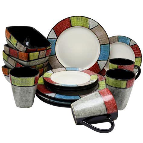 multi colored dinnerware sets elama country cottage16 multi colored dinnerware set