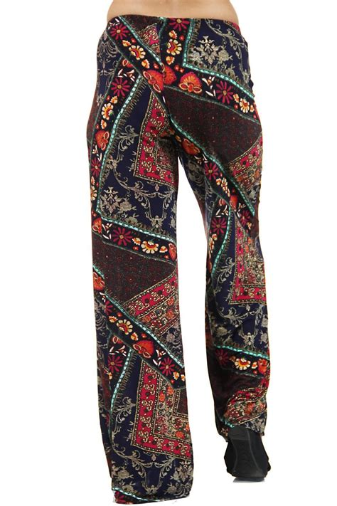 comfort clothes 24 7 comfort apparel printed palazzo pants from california