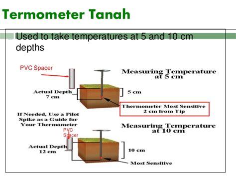 Termometer Suhu suhu tanah