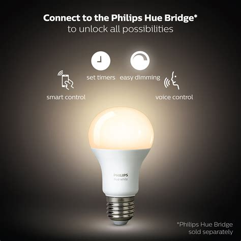 philips a19 dimmable led l galleon philips hue white a19 4 pack 60w equivalent