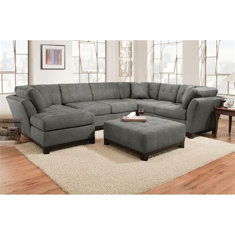 Furniture Sectional Couches by Manhattan Sectional Sofa Loveseat Lsf Chaise Slate