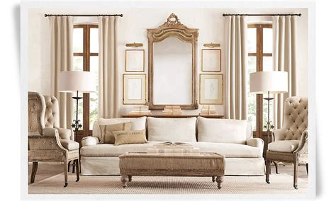 restoration hardware new deconstructed look no minimalist here