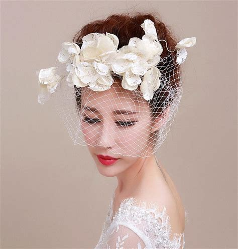 Wedding Hair With Fascinator by European Style White Flower Fascinator Hat Wed Direct