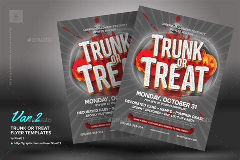 trunk or treat flyer template trunk or treat flyer templates by kinzi21