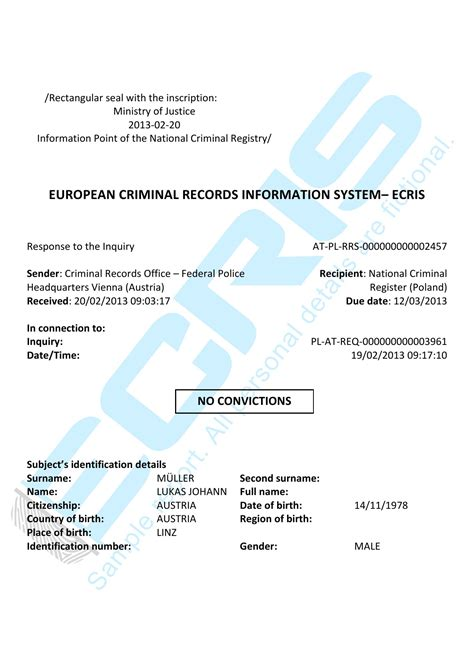 How To Access Criminal Records Austrian Criminal Record Check From Federal Bureau Vienna Ecris