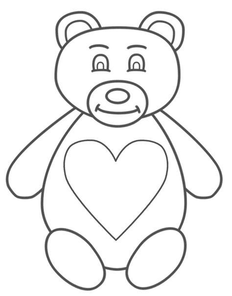 imagenes de ositos tiernos para dibujar a lapiz ositos con corazones para colorear www pixshark com