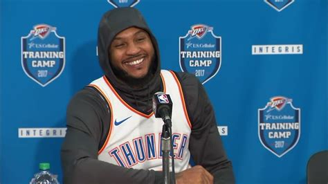 off the bench sports melo laughs at idea of coming off the bench espn video