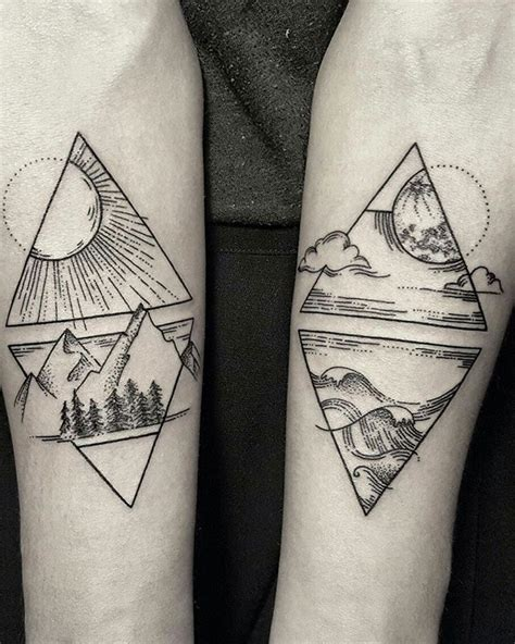 Geometric Tattoo Elements | the four elements pinteres