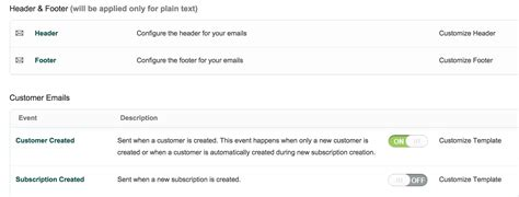 it notification email template email notifications automatic notifications chargebee docs