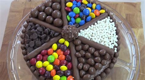 How To Decorate A Cake At Home Easy How To Make A Candy Cake Candy Cake Weddings