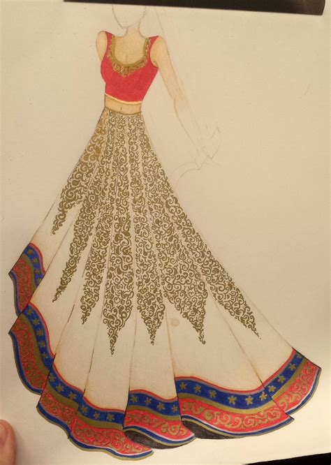 Fashion Wedding by Fashion Design Sketches Of Indian Wedding Dresses Fashion