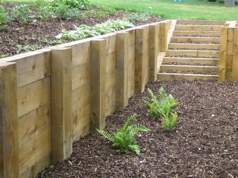 Retaining Walls Sleepers by Sleepers Retaining Walls