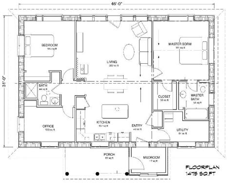 slab on grade floor plans quot eco family 1500 quot straw bale plans strawbale