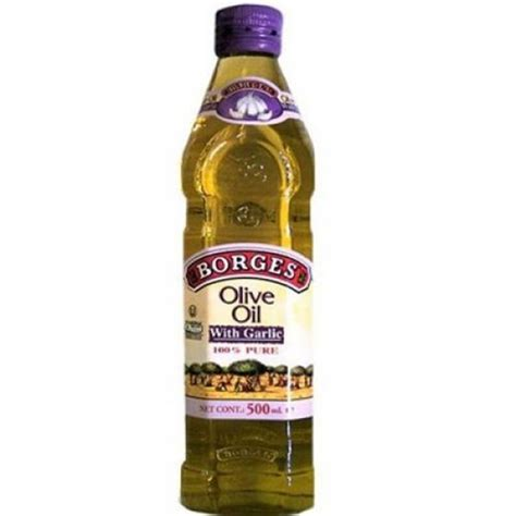 Minyak Zaitun Borges 500 Ml borges olive with garlic 500ml