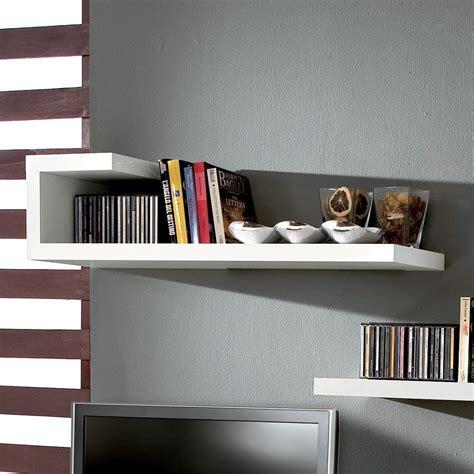 mensola bianco lucido kennedy mensola da parete in legno bianco lucido 100 cm