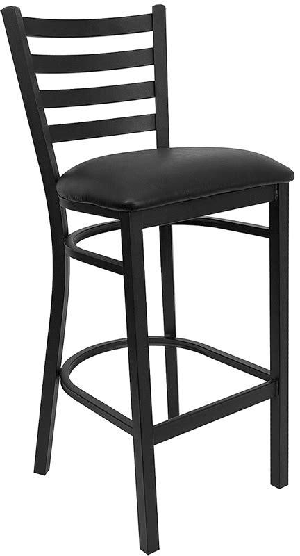 Black Back Bar Stools by Black Ladder Back Metal Restaurant Bar Stool With Black