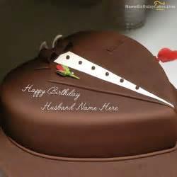 chocolate heart cake husband
