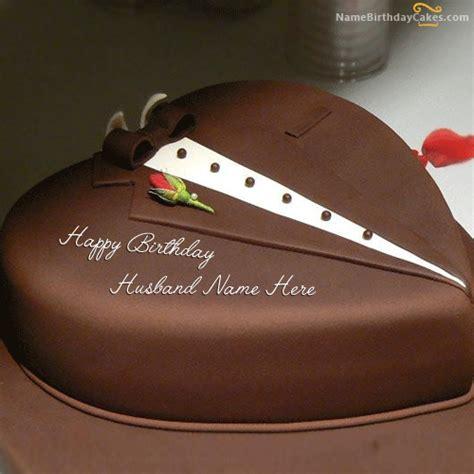 For Cake chocolate cake for husband with name
