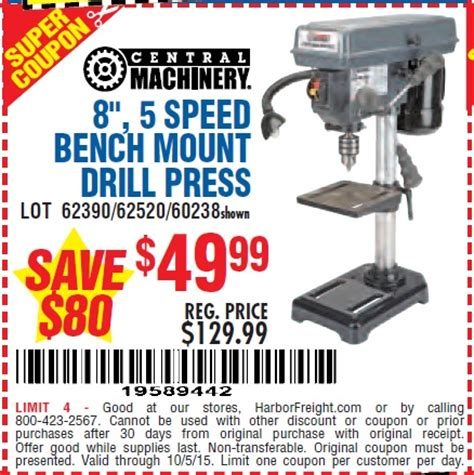 harbor freight bench press harbor freight tools coupon database free coupons 25 percent off coupons toolbox coupons 8