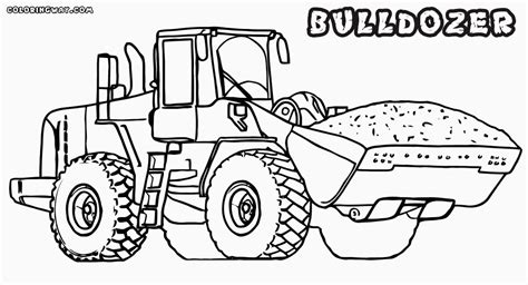 Bulldozer Coloring Pages Bulldozer Coloring Pages Coloring Pages To Download And