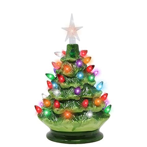 tabletop christmas tree with led lights 9 inch ceramic tree with prelit led lights tabletop decoration ebay
