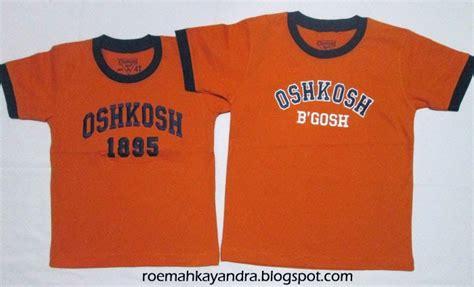Kaos Anak Oshkosh Biru Size 6t Ok011 roemah kayandra kaos oshkosh orange bordir