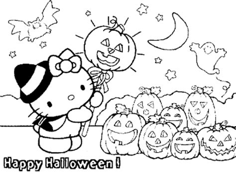 hello kitty witch coloring pages september 2009