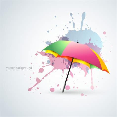 umbrella layout vector colorful umbrella background vector free download