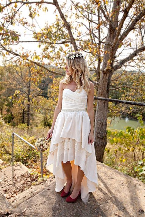 The Handmade Dress - handmade ivory strapless wedding dress for the boho