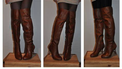 zara thigh high leather boots gt