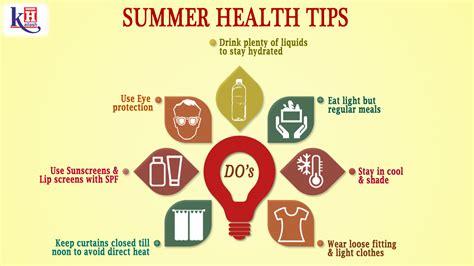 Some Tips For Summer health tips for summer day program
