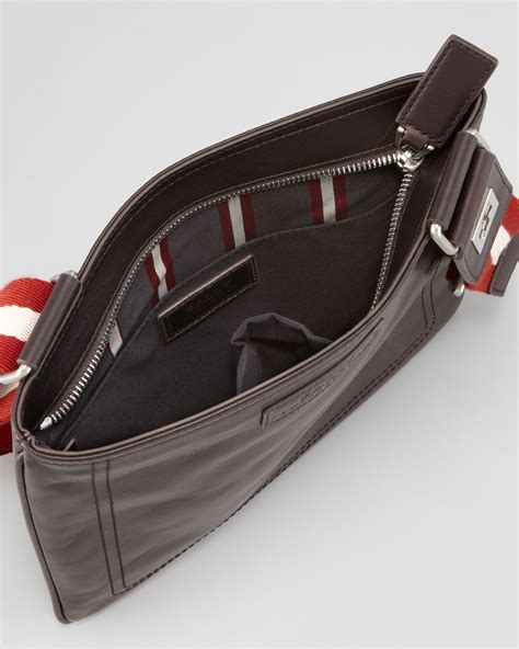 Bally Pocket Stripe Crossbody Bag Ori lyst bally taisten webstrap crossbody bag in brown for