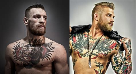 conor mcgregor back tattoo did mcgregor swagger this model from canada