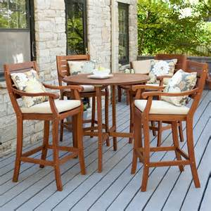 Bar Height Patio Dining Set Arbor Bar Height Patio Dining Set Seats 2 Or 4 Outdoor Bistro Sets At Hayneedle