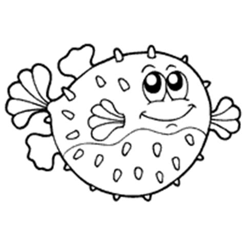 puffer fish drawing for kids www pixshark com images