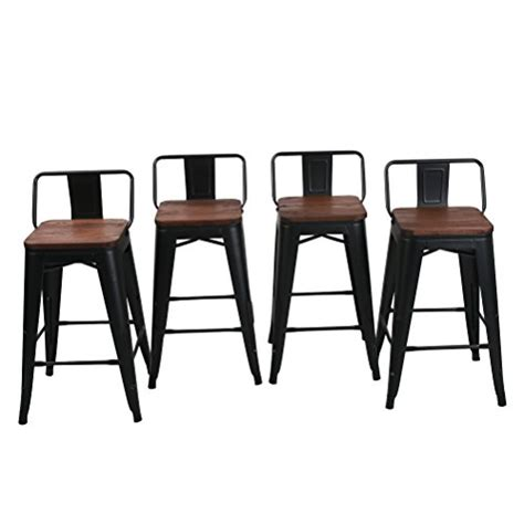 Low Back Metal Counter Stools by Haobo Home 24 Quot Low Back Metal Counter Stool Height Bar